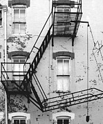 Monotone Prints - Fire Escape Print by Steven Ainsworth
