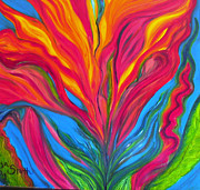 Canna Originals - Fire Flower by Lisa R McGuire-Smith