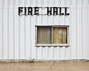 Small Towns Metal Prints - Fire Hall Building Exterior Metal Print by Paul Edmondson