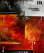 Upbeat Posters - FIRE HAZARD Original MADART Painting Poster by Megan Duncanson