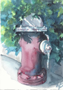Fire Hydrant Paintings - Fire Hydrant by Julie Morrison