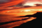 Cape Cod Mass Metal Prints - Fire in Sky Metal Print by Joann Vitali