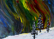 Winter Paintings - Fire in the Sky by Dee Carpenter