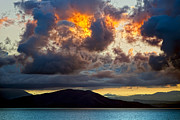 Corfu Prints - Fire in the Sky Print by Janet Fikar