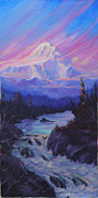 Mckinley Painting Prints - Fire In The Sky Print by Kurt Jacobson