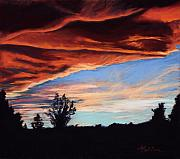 Loveland Artist Prints - Fire in the Sky Print by Mary Benke