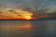 Panama City Beach Prints - Fire in the Sky Print by May Photography