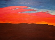Red Sky Paintings - Fire in the Sky by Tyler Martin