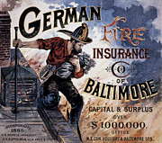 Firefighting Prints - Fire Insurance Co Ad Print by Granger