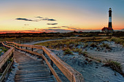 Light House Photos - Fire Island Lighthouse at Robert Moses State Park by Jim Dohms
