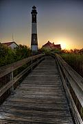 Fire Island Posters - Fire Island Lighthouse at Sunrise Poster by Jim Dohms