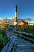 Fire Island Framed Prints - Fire Island Lighthouse Before Sunset Framed Print by Jim Dohms