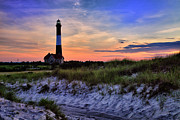 Fire Art - Fire Island Lighthouse by Rick Berk
