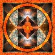 Sacred Geometry Photo Posters - Fire Light Poster by Bell And Todd