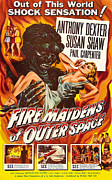 1956 Movies Framed Prints - Fire Maidens Of Outer Space, 1956 Framed Print by Everett