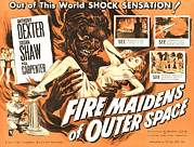 Maidens Posters - Fire Maidens Of Outer Space, Lower Left Poster by Everett
