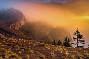 Crater Lake Photos - Fire Mists by Greg Nyquist