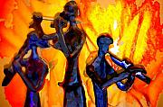 Fire Music Print by Danielle Stephenson