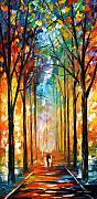 City Park Painting Originals - Fire Night by Leonid Afremov