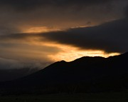 Sunset Greeting Cards Photo Prints - Fire on the Mountain Print by Kevin Bone