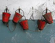 Fathers Art - Fire Pails by Skip Hunt