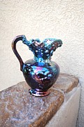 Raku Art - Fire Pitcher by John Johnson
