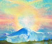 San Juan Paintings - Fire Rainbow Over Alberta Peak Wolf Creek Colorado by Anastasia  Ealy