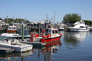 Habor Prints - Fire Rescue Hyannis - Cape Cod Print by Christiane Schulze
