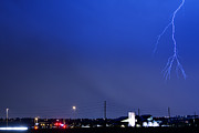 Lightning Bolt Pictures Prints - Fire Rescue Station 67  Lightning Thunderstorm 2 Print by James Bo Insogna
