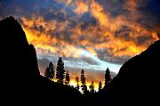Yosemite National Park Digital Art - Fire Sky by Vijay Sharon Govender