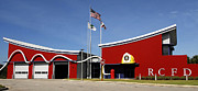 Department Prints - Fire Station Disney Style Print by David Lee Thompson