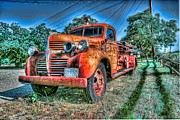 Fire Truck Photos - Fire Truck Of Greenville 2 by Phil Sheridan