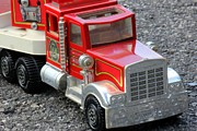 Toy Truck Framed Prints - Fire Truck Framed Print by Sophie Vigneault