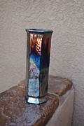 Raku Art - Fire Vase by John Johnson