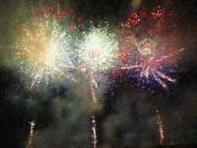All - Fire Works Show Stippled Paint Finally FRANCE by Dawn Hay
