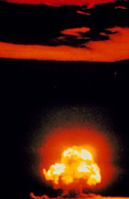 Atomic Bomb Photos - Fireball & Cloud After 1st Atomic Bomb Detonation by U.s. Army.