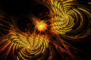 Mysterious Digital Art - Firebird by John Edwards