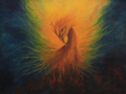 Spiritual Paintings - Firebird by Marina Petro