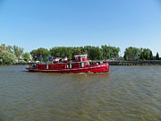Fireboat Photos - Fireboat Edward M Cotter Underway by Joseph Rennie