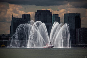 Fireboat Framed Prints - Fireboat on the Hudson Framed Print by Chris Lord