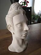 Head Ceramics - Fired Clay Bust Number One by Braven Smillie
