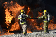 Helping Photos - Firefighters In Action 3 by Bob Christopher
