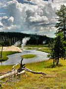River Greeting Cards Photos - Firehole River by Steven Ainsworth