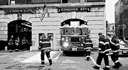 The Town That Ruth Built Prints - Firehouse BW6 Print by Scott Kelley
