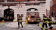The Town That Ruth Built Prints - Firehouse Color 6 Print by Scott Kelley