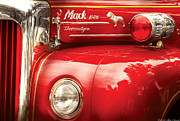 Firetruck Posters - Fireman - An old fire truck Poster by Mike Savad