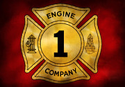 Rescue Framed Prints - Fireman - Engine Company 1 Framed Print by Mike Savad
