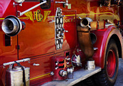 Chief Framed Prints - Fireman - Engine no 2  Framed Print by Mike Savad