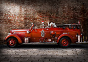 Fire Engine Framed Prints - Fireman - FGP Engine No2 Framed Print by Mike Savad