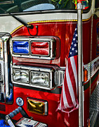 Fire Equipment Framed Prints - Fireman - fire truck Framed Print by Paul Ward